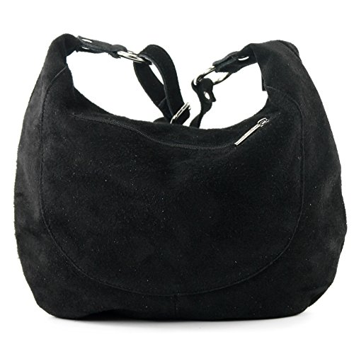 handbag Italian Black bag T02 shoulder leather bag suede Women's bag shopper real dZw6qZg