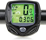 Bike Computer, Foneso Waterproof Cycling Odograph, Wireless Bicycle Speedometer with Large Display Screen and
