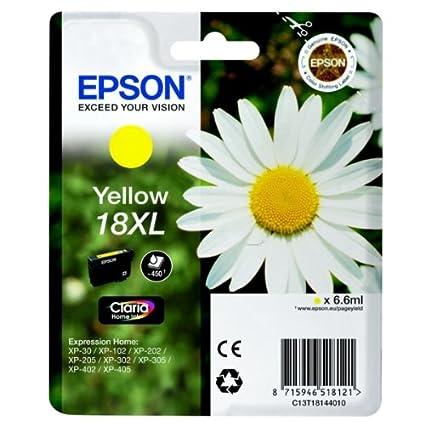 Epson - C13t18144010 cartucho de tinta de color amarillo para ...