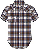 ELY CATTLEMAN Men's Assorted Plaid Stripe Short Sleeve Western Shirt Big Plaid X-Large Tall