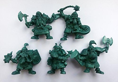 Dwarf set 54 mm 1/32 - 5 Fantasy Figures Tehnolog Fantasy Battles Russian Toy Soldiers ()