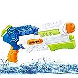 Super Water Gun Soaker Squirt Water Blaster Outdoor Water Fun Activity & Adults Blaster (Blue)