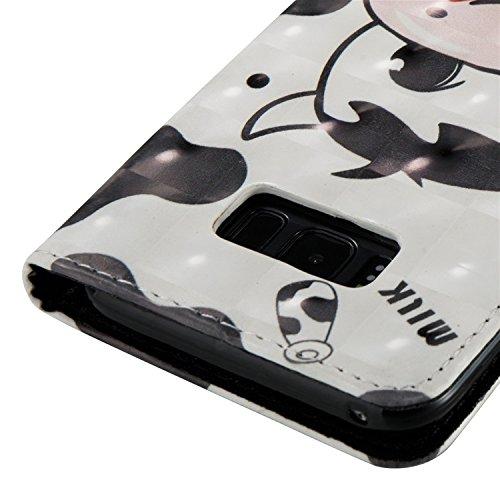 Samsung Galaxy S8 Plus Funda peil con Tapa, Vandot 3in1 PU Cuero Capas Caja Carcasa de Teléfono Concha Shell Bumper Wallet Flip Case Cover con Soporte Función Tarjeta Ranura Billetera Botón Magnético  3D PT 03