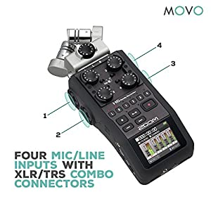 Zoom H6 Six-Track Portable Handy Recorder Bun...