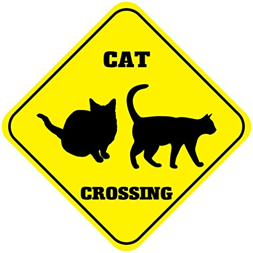 Cat Crossing Signs Kritters In The Mailbox Cat