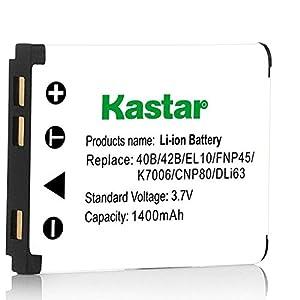 Kastar USB Charger, Battery for LI-42B 42B EN-EL10 EL10 KLIC-7006 K7006