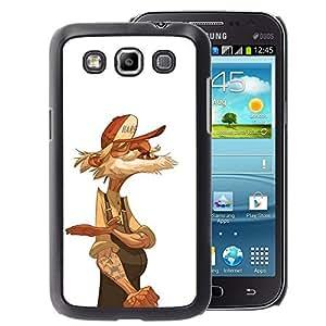 A-type Arte & diseño plástico duro Fundas Cover Cubre Hard Case Cover para Samsung Galaxy Win I8550 (Old Man Trucker Retired Sailor White)
