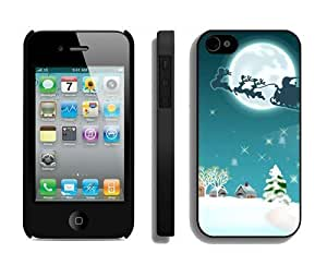 2014 New Style Santa Claus Christmas Black iPhone 4 4S Case 1