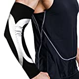 1PC Muscle Compression Elbow Sleeve Sport Protective Supportor - GUARANTEED Recovery Brace - Black - M/L/XL