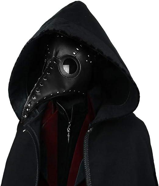 Handmade Leather product European Black Death Plague Doctor mask crow Bird masks