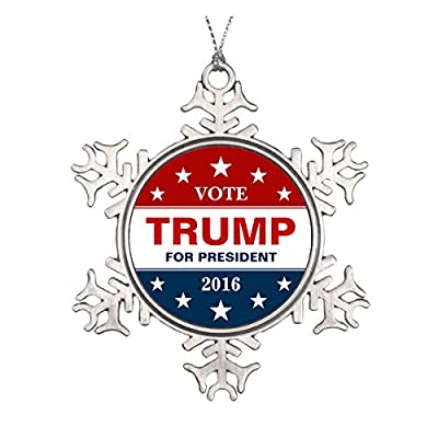 Donald Trump for President 2016 Campaign Decor Ceramic Round Christmas Ornament