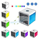 Softmusic Lightweight Air Cooler 3-in-1 Mini USB LED Light Humidifier Purifier Office Fan - Multicolor Light