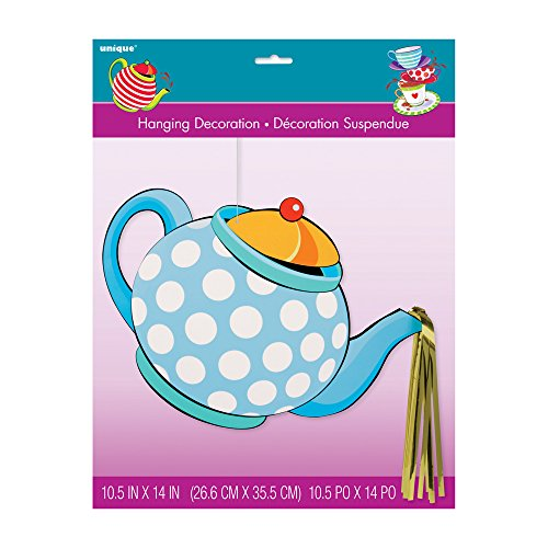 Hanging Teapot Mad Hatter Tea Party Decoration