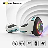 """Hoverboard UL 2272 Certified Flash Wheel 6.5"""" Bluetooth Speaker with LED Light Self Balancing Wheel Electric Scooter (White)"""