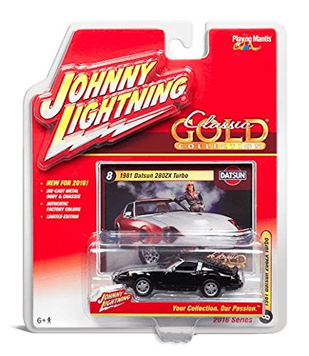 Johnny Lightning 2016 Classic Gold Collection 1981 Datsun 280ZX Turbo Black/Silver #8