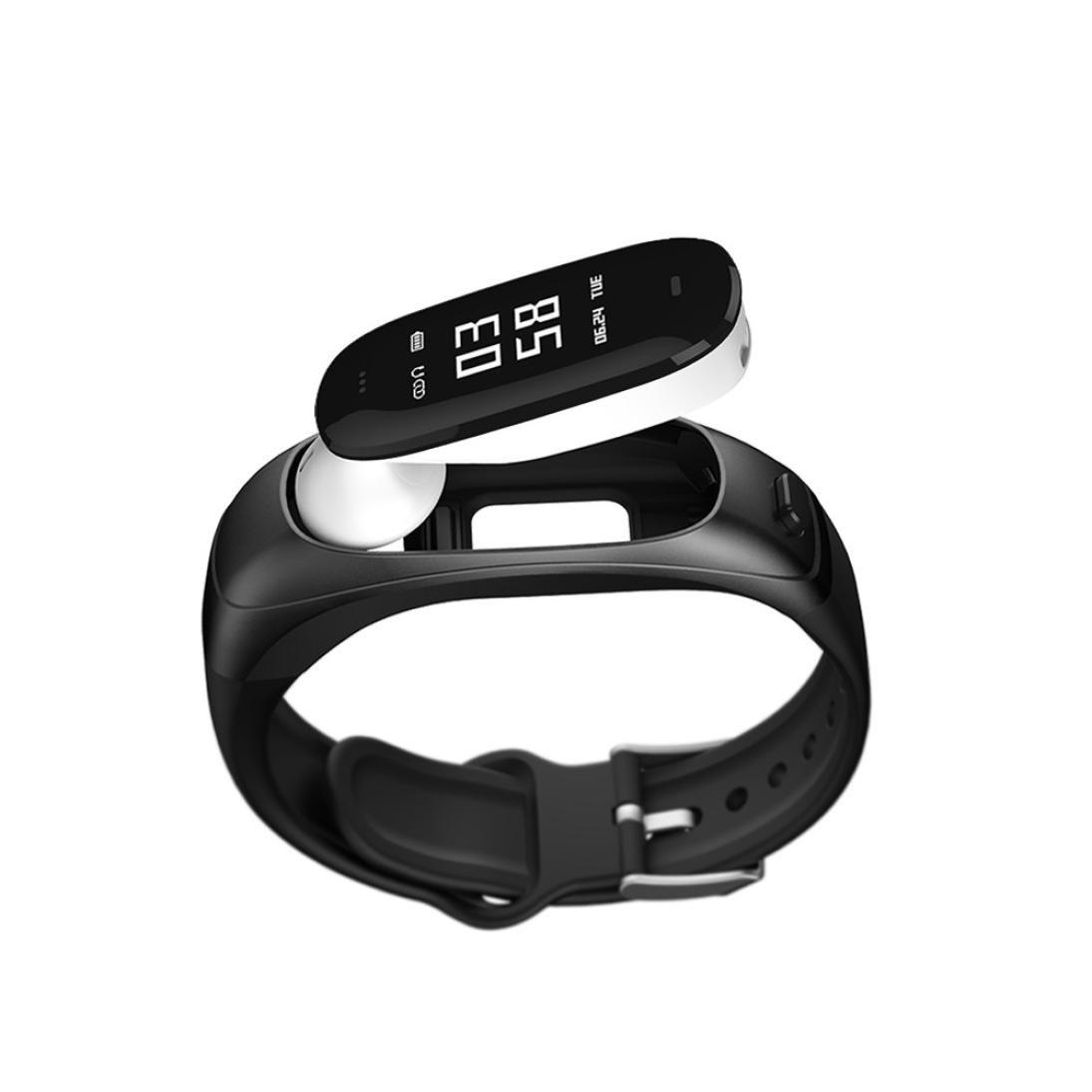 fuibo Smart Watch, Bluetooth Smart Watch Tensiómetro Pulsómetro Oreja Soporte Siri ans | inteligente reloj de pulsera Sport Fitness Tracker pulsera, ...