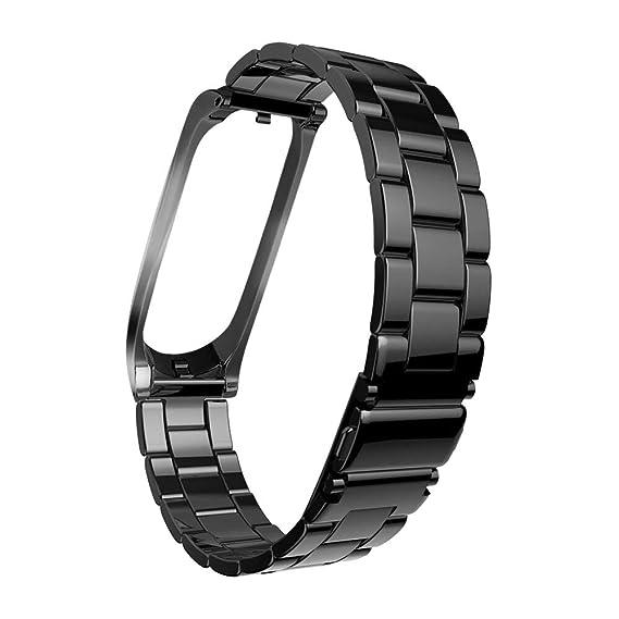 ... Watchs para Mujer Hebilla Brazalete de Metal Pulsera Sólido Wristbands Tres Cuentas Strap Relojs de Manera Banda Repuesto Cadena: Amazon.es: Relojes