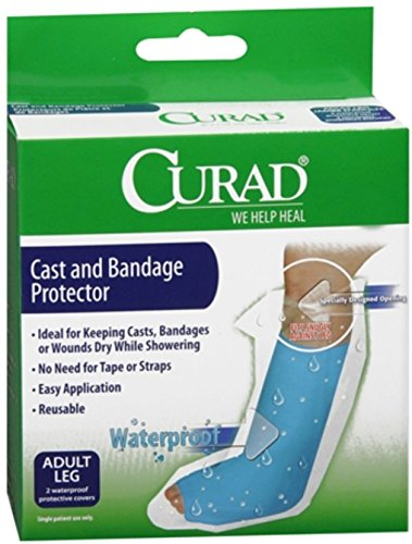 - Curad Cast and Bandage Protector Adult Leg 2 Each (Pack of 2)