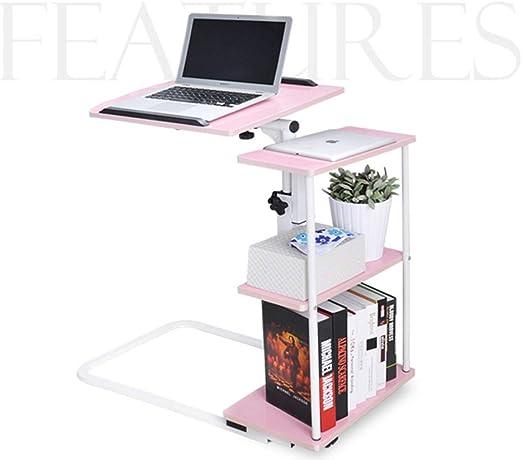 OVEA Mesa De Computadora, con Ruedas,Regulable En Altura PortáTil ...