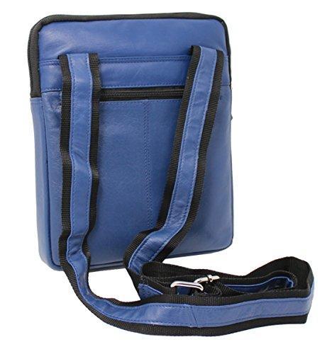 Hombres Azul 505 De La Ipad STARHIDE Tableta Genuino Cuero De Bolso De Bolso Viaje Para Hombro Mujeres Crossbody dxaAT