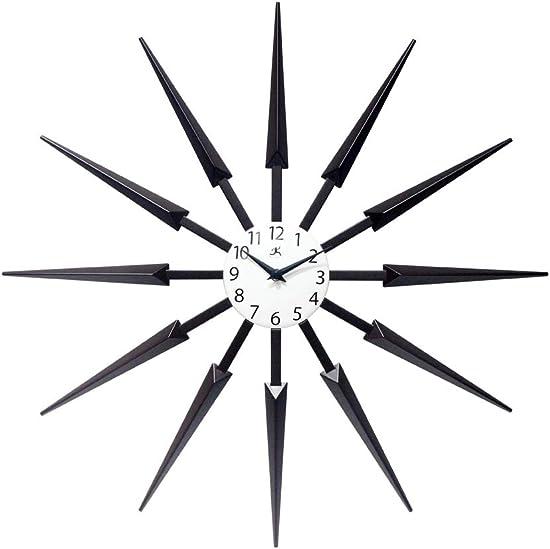 Celeste Dark Wood Spokey Starburst Clock 24 inch Starburst Wall Clock Retro Starburst Clock Midcentury