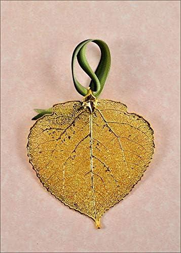 amazon com aspen ornament gold real leaf ornaments aspen leaf ornament jewelry amazon com
