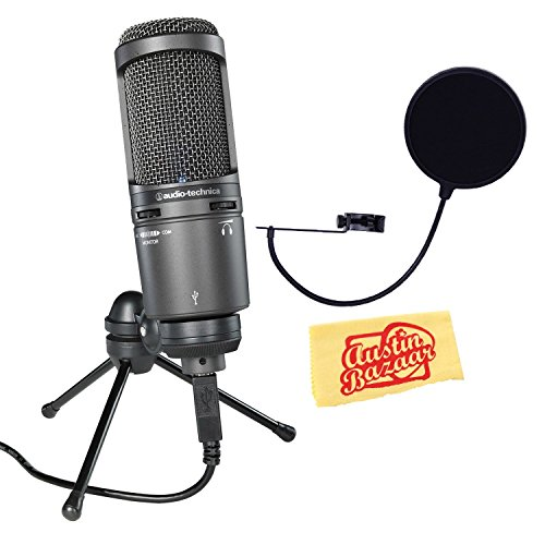 audio-technica-at2020usb-cardioid-condenser-usb-microphone-bundle-with-pop-filter-and-austin-bazaar-