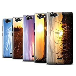 STUFF4 Phone Case / Cover for Wiko Pulp Fab 4G / Multipack (20 Pack) / Sunset Scenery Collection