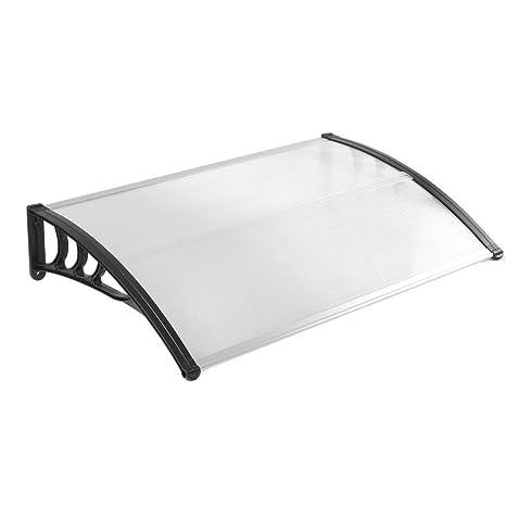 80 CM x 120 CM Vordach /überdachung Haust/ür,Haust/ürvordach Polycarbonat Pultbogenvordach