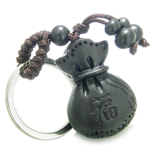 Amulet Sandal Wood Money Bag Lucky Feng Shui Symbols Good Luck Powers ()