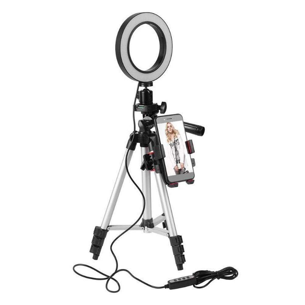5.7 Pulgadas de luz del Anillo Selfie Regulable con Soporte de tr/ípode Soporte para tel/éfono m/óvil Flexible para transmisi/ón en Vivo