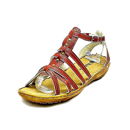 Very Low Sandals Heel Studded Burgundy Ladies Front Strappy sendit4me xwEqCgzt6n
