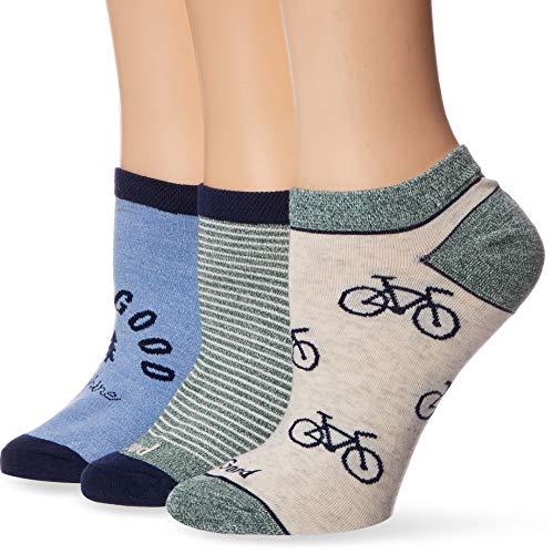 Life is Good Women's 3-Pack Low Cut Socks, One Size, Bike/Tree Blue
