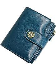 4c02e3a28d TEUEN Portafoglio Donna in Pelle Vera con Portamonete Anti RFID Portafogli  Donna Piccolo Sottile con Cerniera