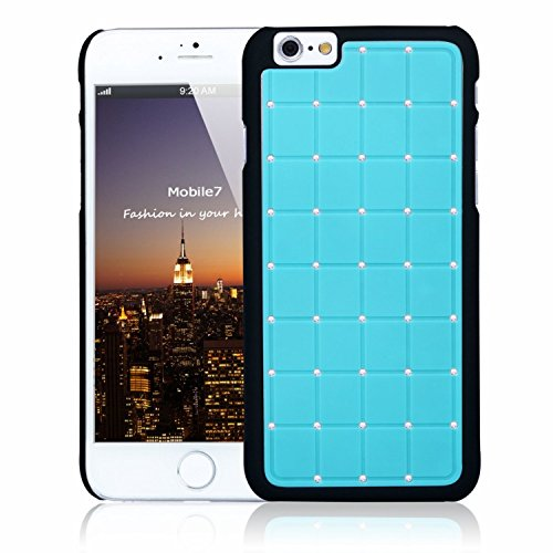 Apple Iphone 6/6s LUXURY CRYSTAL Cross Diamond Blue Case Bling Hard Cover with Black Frame For Apple Iphone 6/6s By G4GADGET®