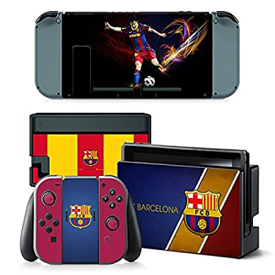 GoldenDeal Nintendo Switch Console and Controller Skin Set - Soccer