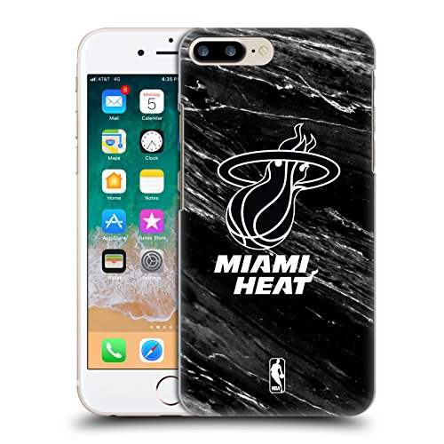 Official NBA B&W Marble Miami Heat Hard Back Case for Apple iPhone 7 Plus / 8 Plus (B/w Iphone)