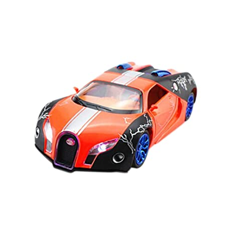 Attrayant 1:32 Diecast Car Model Bugatti Veyron Brand Car Model Pull Back Car(Orange
