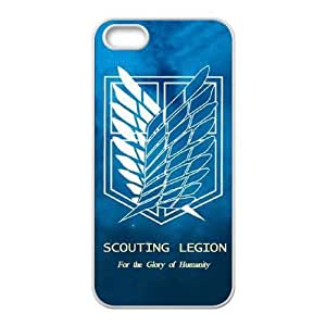 iphone5 5s Phone case White Attack on Titan Wings Of Liberty Flag TRPP4530420