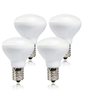 Haian R14 LED Bulb E17 Intermediate Base Mini Reflector,4 Watt 280 Lumens,25 Watt Incandescent Equivalent,R14 E17 LED Light Bulb Non-dimmable 3000K Warm White (4 Pack)