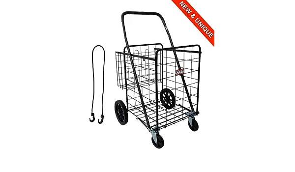 TRANSPORTADOR 1000 - Carrito de compras muy robusto 100% metal - 149L el carrito de compras más grande del mercado: Amazon.es: Equipaje