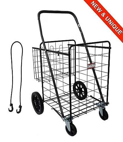 TRANSPORTADOR 1000 - Carrito de compras muy robusto 100% metal - 149L el carrito de