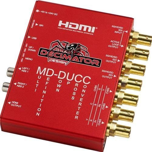 Decimator MD-DUCC Multi-Definiton Down Up Cross Converter SDI to SDI, HDMI and Analogue Video with 2x AES/EBU and 2x Analogue Audio (Analogue Output)