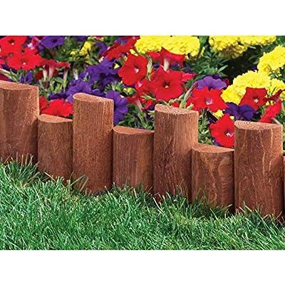 "Jur_Global 18"" Wooden Half-Log Edging (6 Pack)"