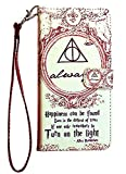 Harry Potter Always Galaxy S9 Wallet Case, IMAGITOUCH Folio Flip PU Leather Wallet Case with Kickstand Wrist Strap and Card Slots for Galaxy S9- Harry Potter Dumbledore Always Wallet
