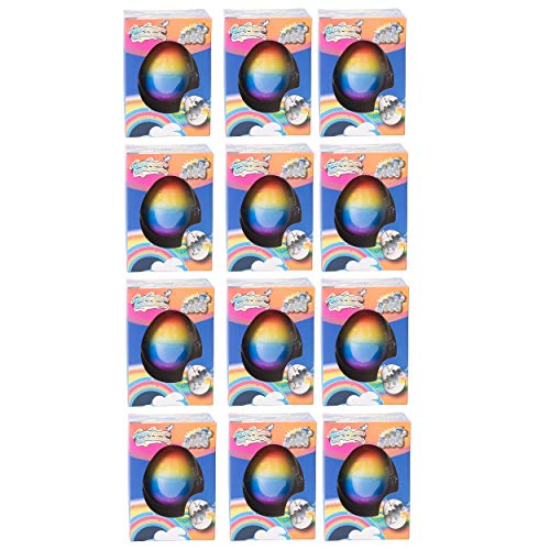 Master Toys and Novelties 12 Pack - Surprise Growing Unicorn Hatching Rainbow Egg Kids Toys, Assorted Colors ()