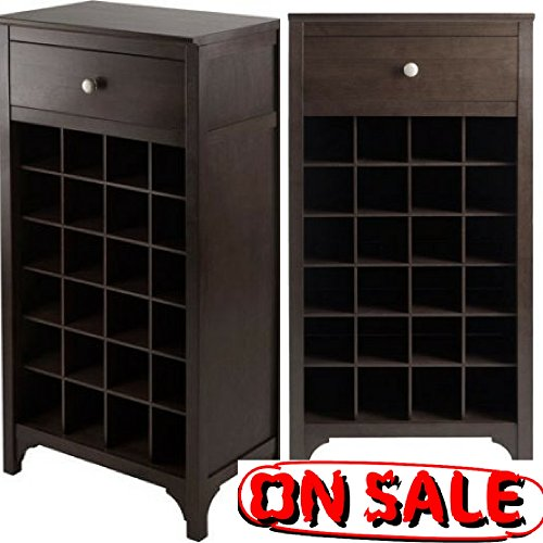 Small Narrow Wooden Wine Rack with Countertop Drawer and 24-Bottle Cabinets for Storage Traditional Classic Wine Bar Rack with Tabletop Standing Wine Cabinet eBook by Easy&FunDeals