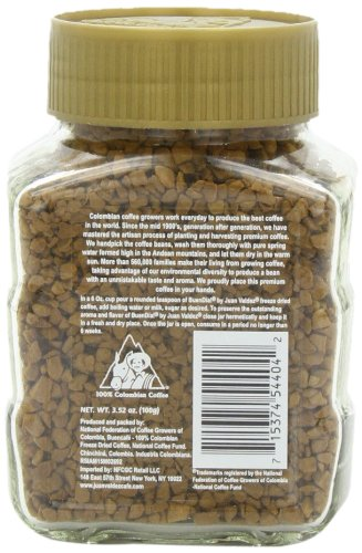 Buendia by Juan Valdez Classic 100% Colombian Freeze Dried Coffee, 3.52 oz. (Pack of 3)