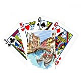 Italy Venice Landscape Watercolour Painting Poker Playing Cards Tabletop Game Gift