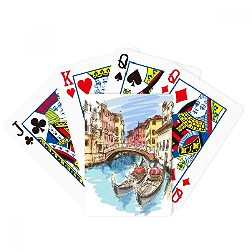 Italy Venice Landscape Watercolour Painting Poker Playing Cards Tabletop Game Gift by beatChong